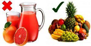 Renunciar a los jugos de frutas