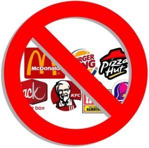 no a la comida rápida