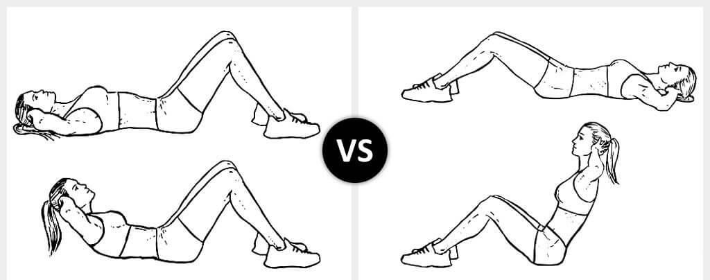 crujido vs abdominales